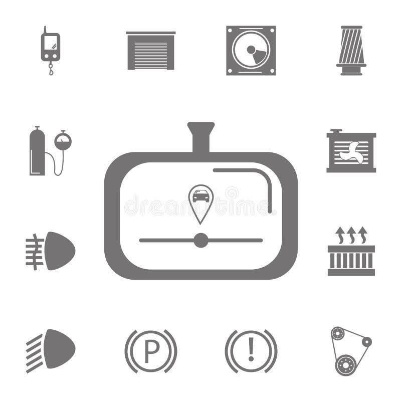 Icona di navigazione Insieme delle icone di riparazione dell'automobile Segni della raccolta, icone semplici per i siti Web, web  illustrazione vettoriale