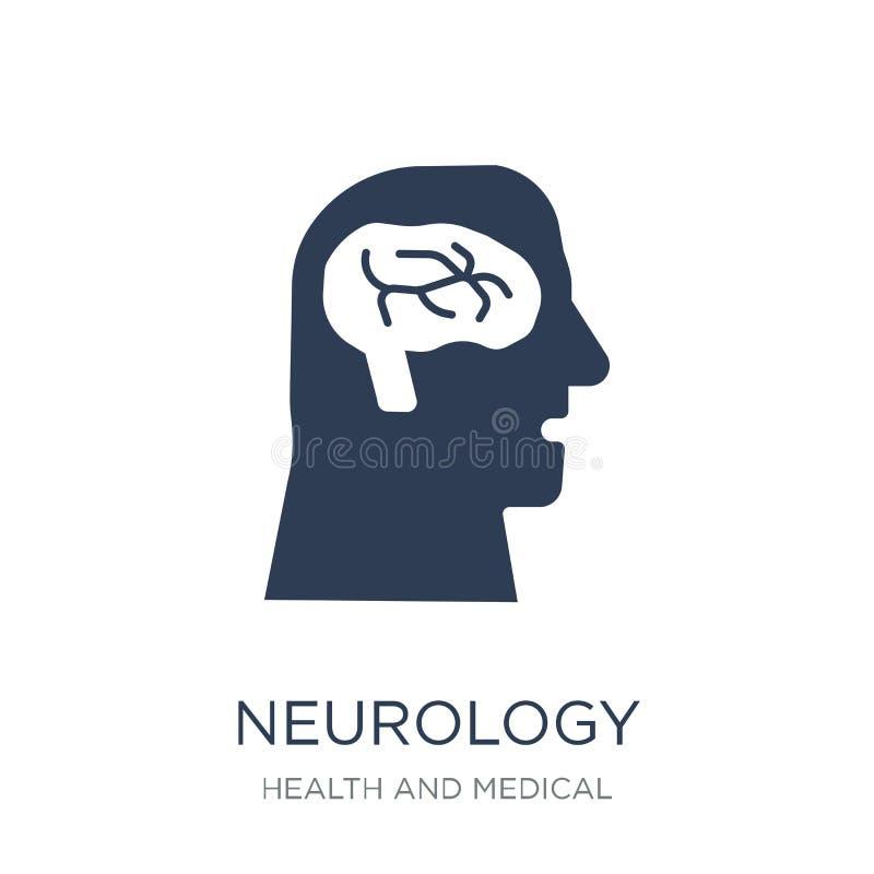 Icona di neurologia Icona piana d'avanguardia di neurologia di vettore su backg bianco illustrazione di stock