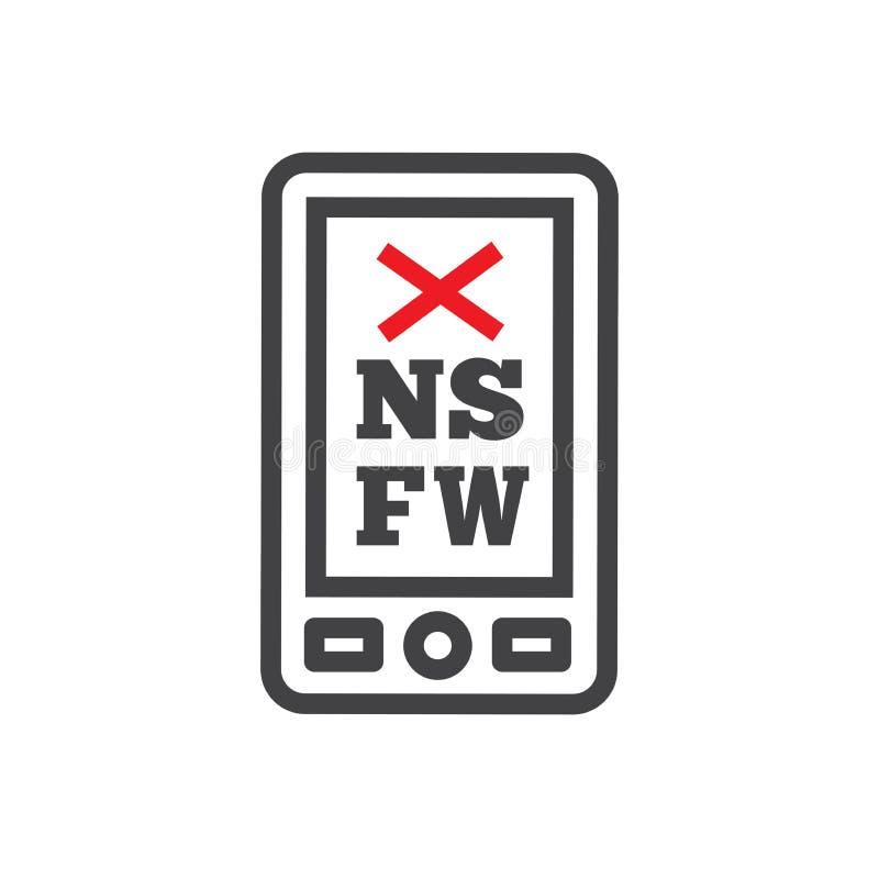 Icona di NSFW con il grafico illustrazione vettoriale