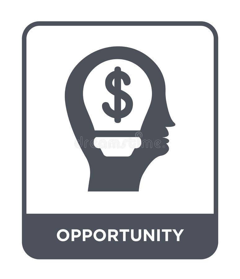 icona di opportunità nello stile d'avanguardia di progettazione icona di opportunità isolata su fondo bianco icona di vettore di  royalty illustrazione gratis