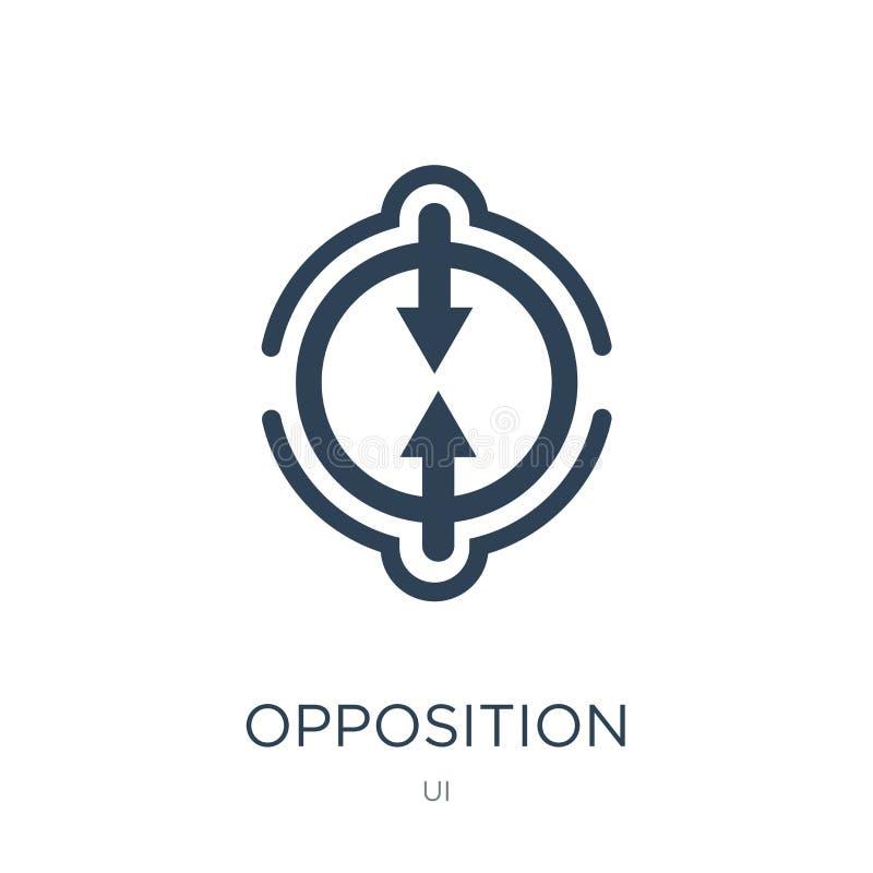 icona di opposizione nello stile d'avanguardia di progettazione icona di opposizione isolata su fondo bianco icona di vettore di  illustrazione vettoriale