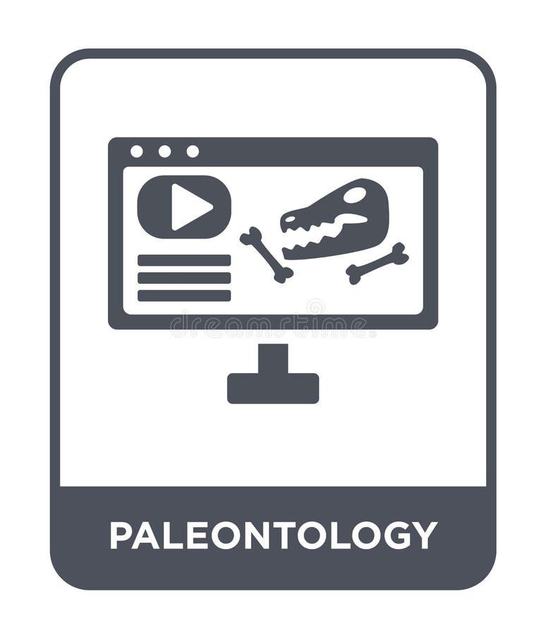 icona di paleontologia nello stile d'avanguardia di progettazione icona di paleontologia isolata su fondo bianco icona di vettore illustrazione di stock