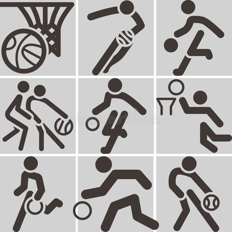 Icona di pallacanestro illustrazione di stock