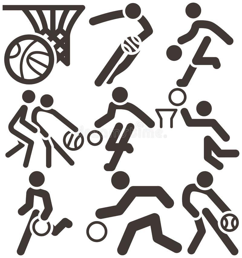 Icona di pallacanestro royalty illustrazione gratis