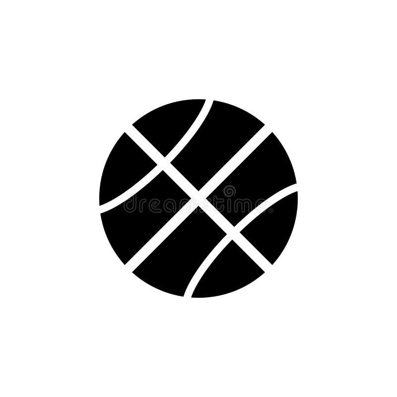 Icona di pallacanestro Elemento dell'icona di web per i apps mobili di web e di concetto L'icona isolata di pallacanestro può ess illustrazione vettoriale