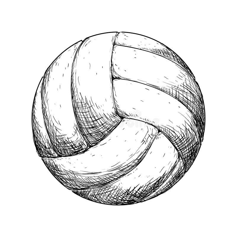 Icona di pallavolo Concetto di sport Grafico di vettore royalty illustrazione gratis