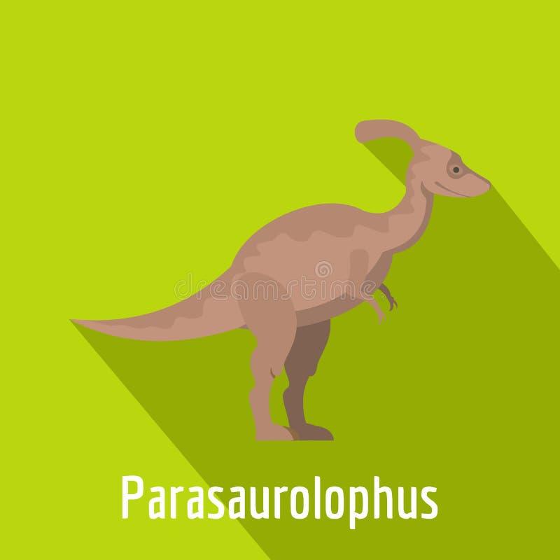 Icona di Parasaurolophus, stile piano illustrazione di stock