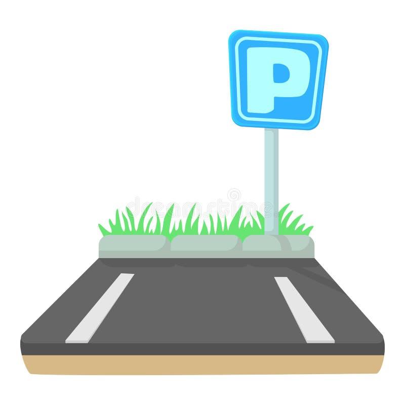 Icona di parcheggio, stile del fumetto royalty illustrazione gratis