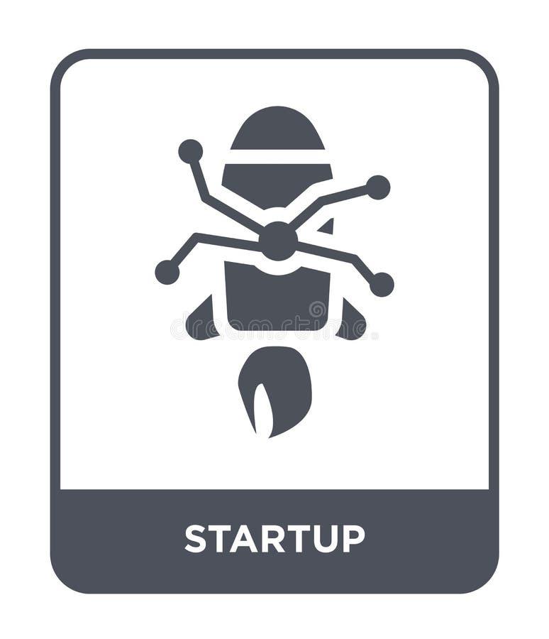 icona di partenza nello stile d'avanguardia di progettazione Icona Startup isolata su fondo bianco simbolo piano semplice e moder royalty illustrazione gratis