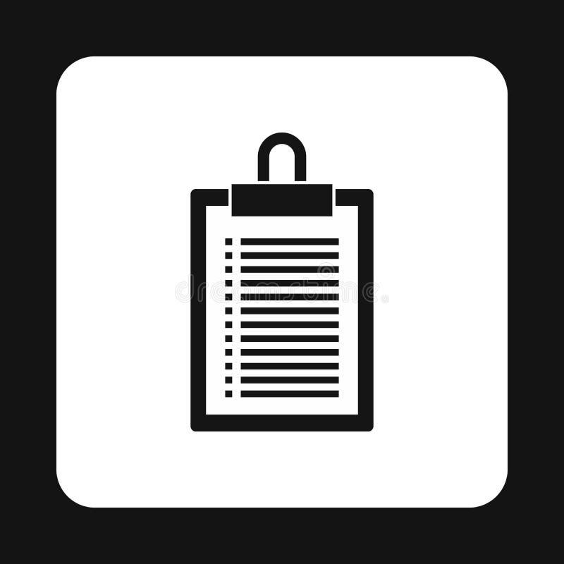 Icona di piano del documento, stile semplice illustrazione vettoriale