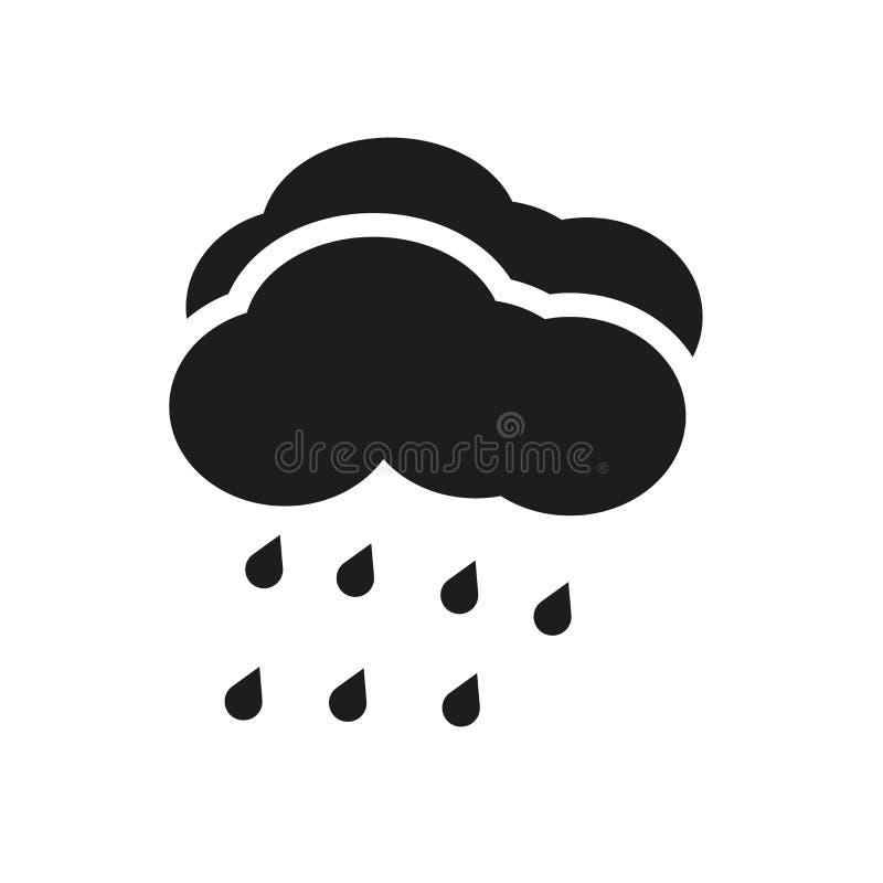 Icona di piovosità Concetto d'avanguardia di logo di piovosità su fondo bianco royalty illustrazione gratis
