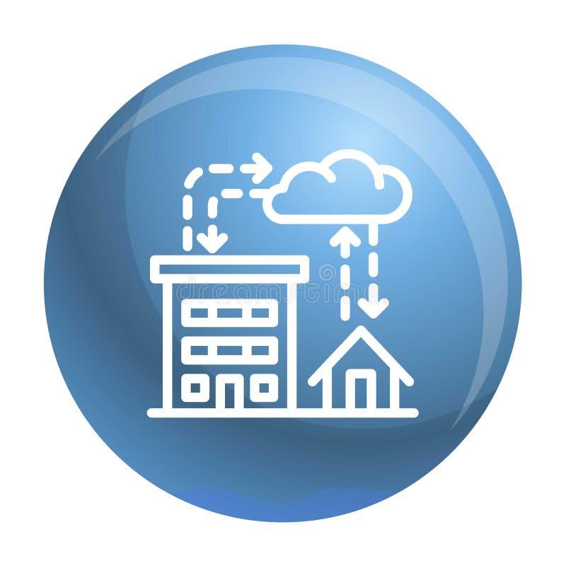 Icona di piovosità della città, stile del profilo illustrazione di stock