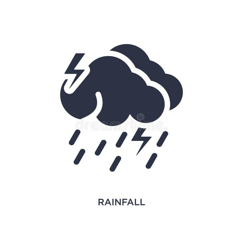 icona di piovosità su fondo bianco Illustrazione semplice dell'elemento dal concetto del tempo royalty illustrazione gratis