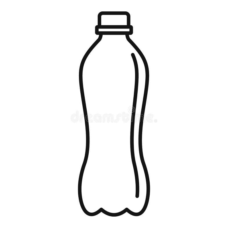 Icona di plastica della bottiglia di acqua, stile del profilo royalty illustrazione gratis