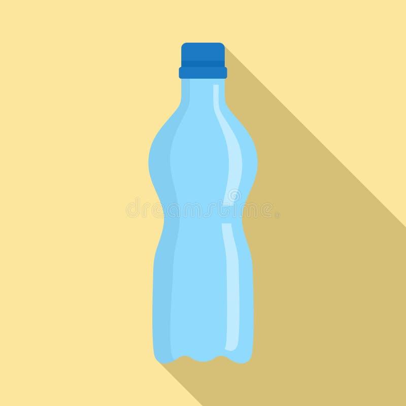 Icona di plastica della bottiglia dell'acqua, stile piano illustrazione vettoriale