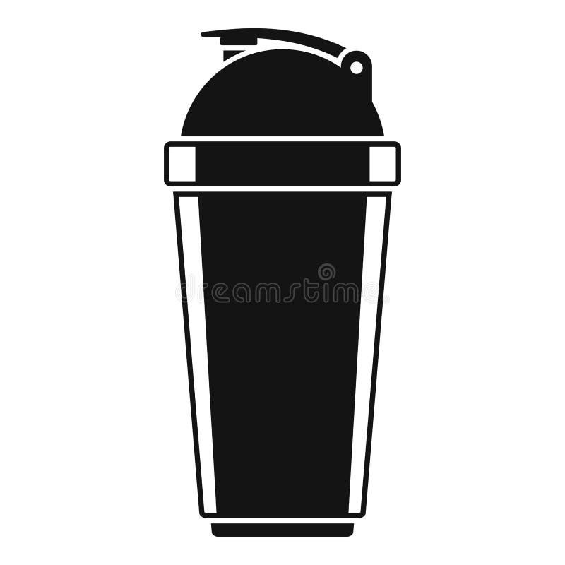 Icona di plastica della bottiglia dell'agitatore, stile semplice illustrazione vettoriale