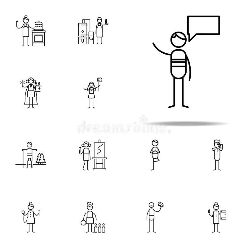 Icona di Politico insieme universale delle icone del hobbie per il web ed il cellulare illustrazione di stock