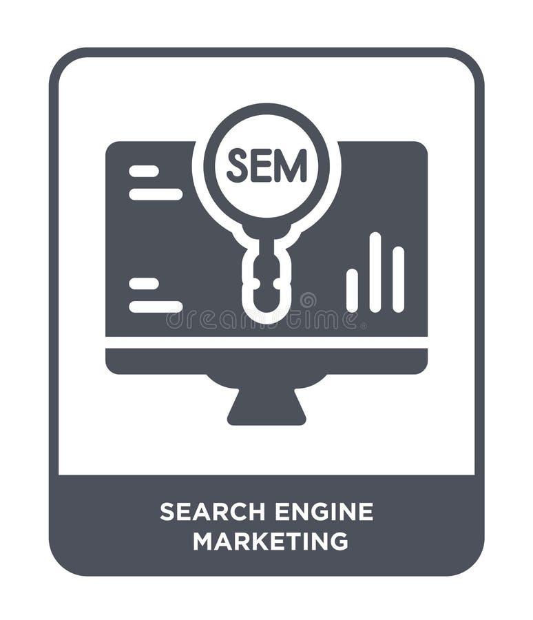 icona di posizionamento nello stile d'avanguardia di progettazione icona di posizionamento isolata su fondo bianco Search Engine royalty illustrazione gratis