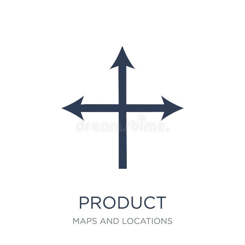 Icona di posizionamento di prodotto Posizionamento di prodotto vettoriale piano d'avanguardia illustrazione di stock