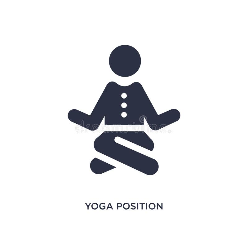 icona di posizione di yoga su fondo bianco Illustrazione semplice dell'elemento dal concetto di comportamento illustrazione di stock