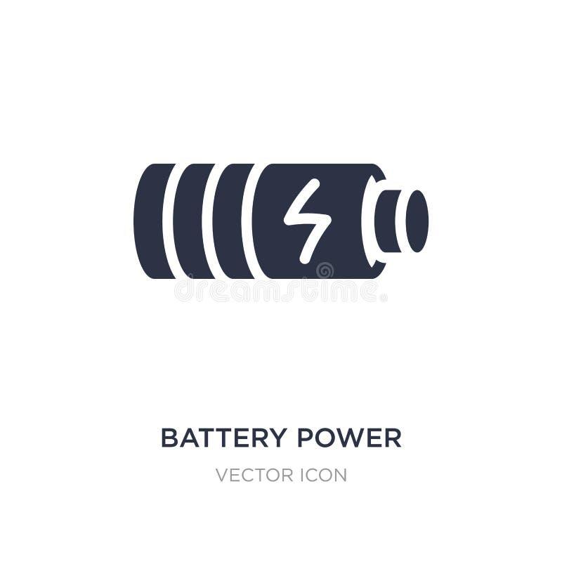 icona di potenza della batteria su fondo bianco Illustrazione semplice dell'elemento dal concetto di tecnologia royalty illustrazione gratis