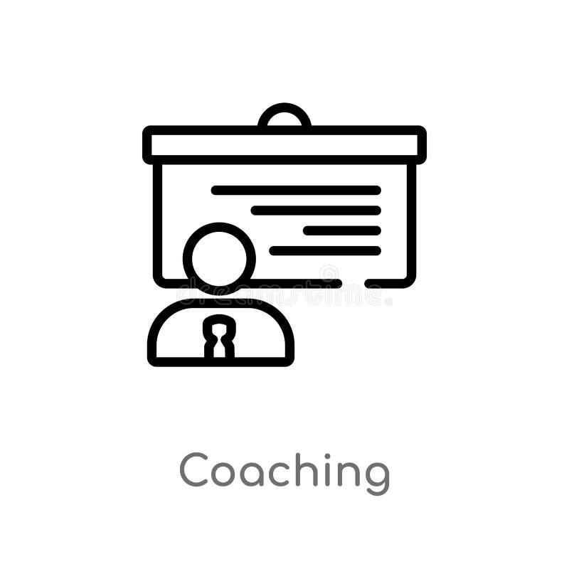 icona di preparazione di vettore del profilo linea semplice nera isolata illustrazione dell'elemento dal concetto di strategia Co illustrazione di stock