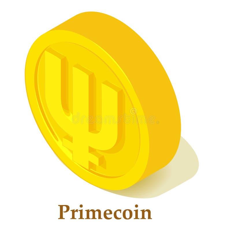 Icona di Primecoin, stile isometrico royalty illustrazione gratis