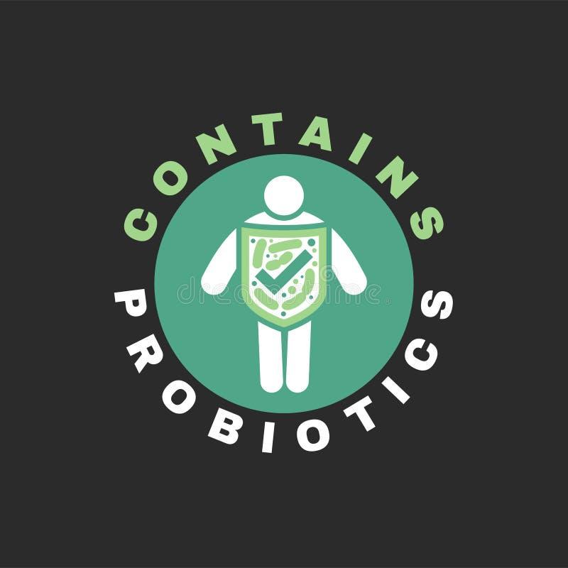 Icona di probiotici del lattobacillo royalty illustrazione gratis