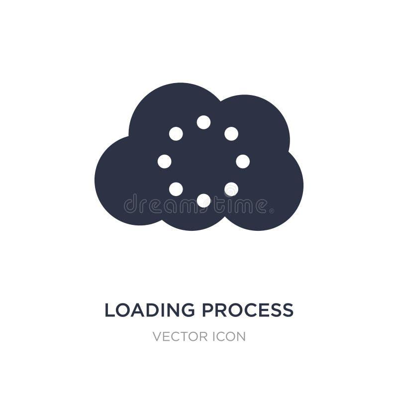 icona di processo di caricamento su fondo bianco Illustrazione semplice dell'elemento dal concetto di UI illustrazione di stock
