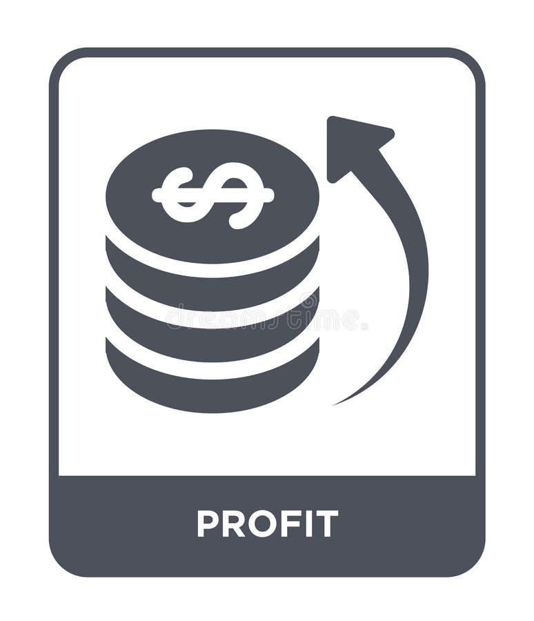 icona di profitto nello stile d'avanguardia di progettazione icona di profitto isolata su fondo bianco simbolo piano semplice e m illustrazione vettoriale