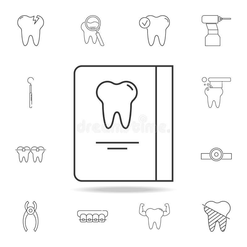 Icona di programma di giorni di ricezione del dentista Insieme dettagliato della linea dentaria icone del profilo Icona premio di royalty illustrazione gratis