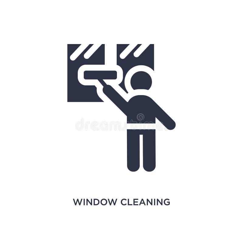 icona di pulizia di finestra su fondo bianco Illustrazione semplice dell'elemento dal concetto di comportamento illustrazione vettoriale