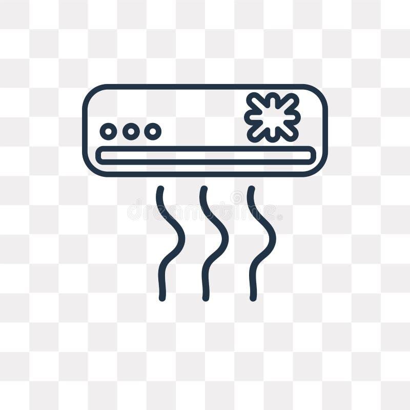 Icona di raffreddamento di vettore isolata su fondo trasparente, C lineare illustrazione vettoriale