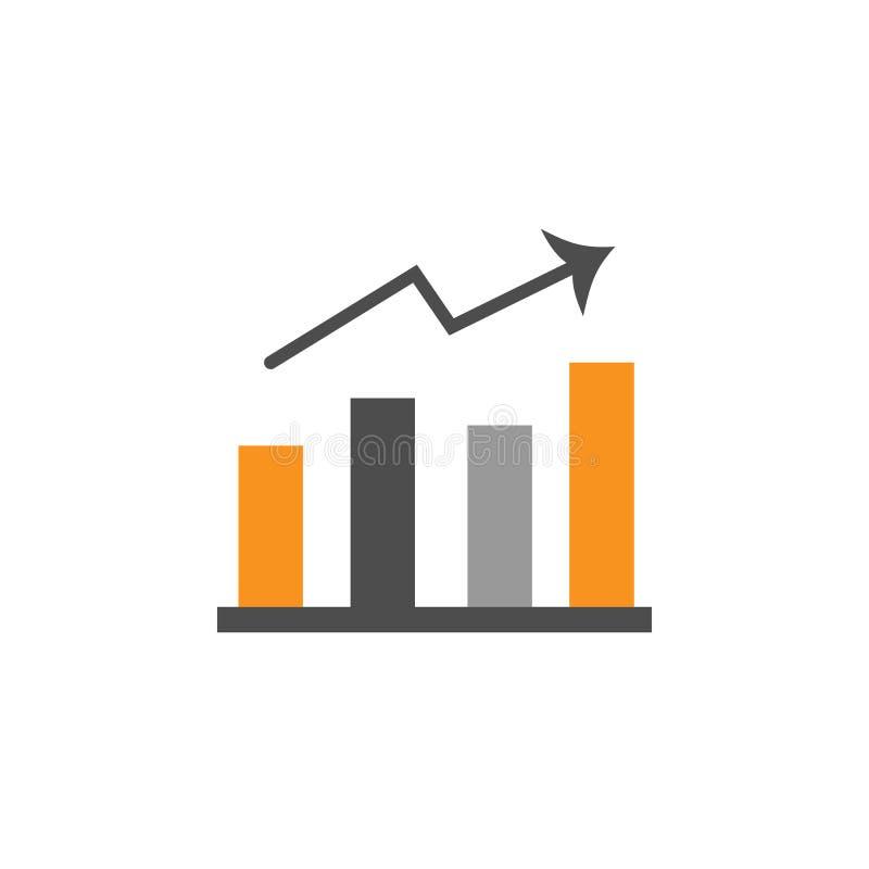 Icona di rapporti e di finanza Elemento di finanziario, dei diagrammi e dell'icona di rapporti per il concetto mobile ed i apps d illustrazione vettoriale