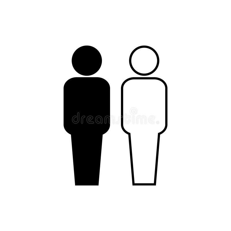 Icona di razzismo su un fondo bianco illustrazione di stock