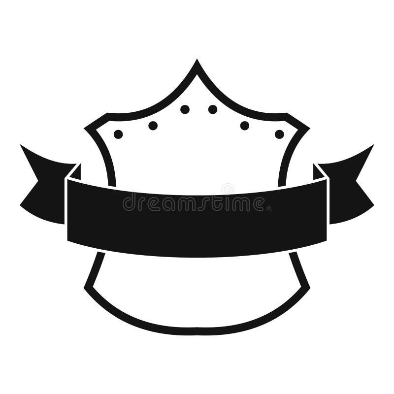 Icona di re del distintivo, stile nero semplice illustrazione vettoriale