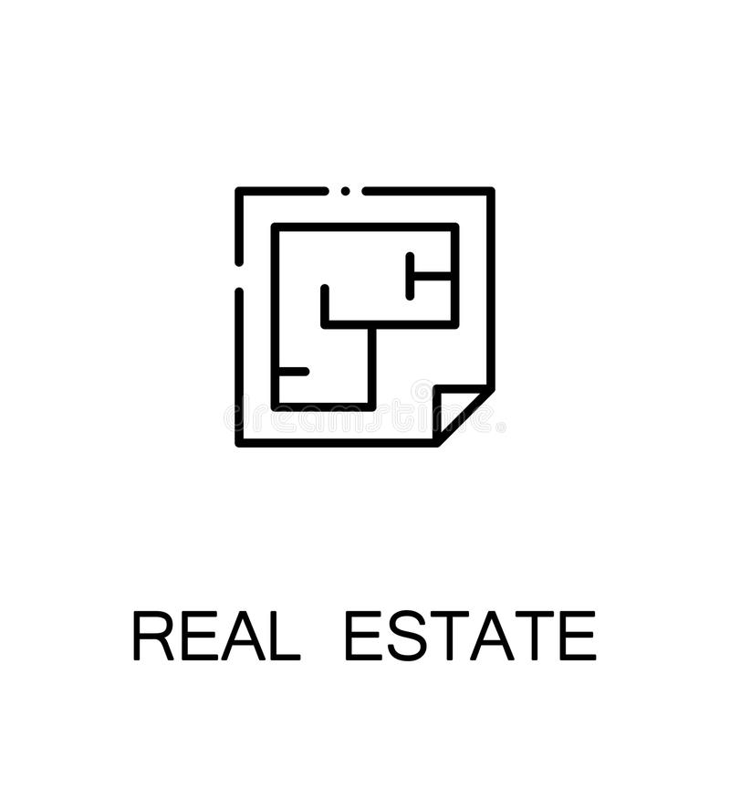Icona di Real Estate illustrazione di stock