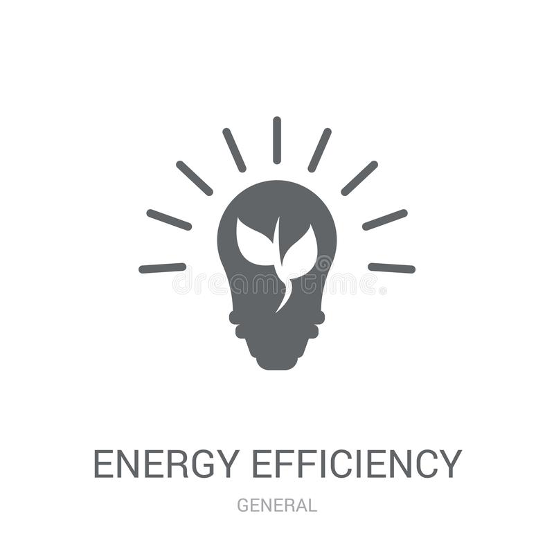 Icona di rendimento energetico  illustrazione di stock