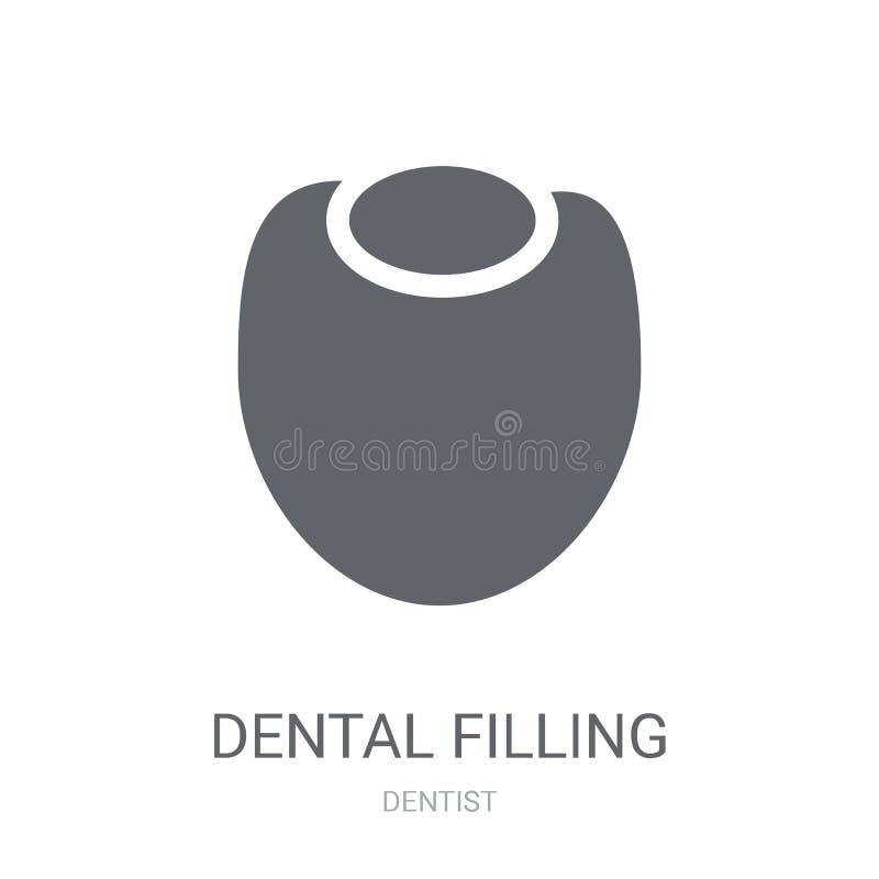 Icona di riempimento dentaria  illustrazione di stock