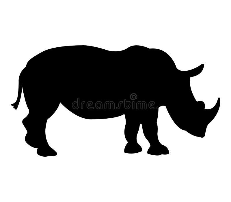 Icona di rinoceronte illustrata illustrazione di stock