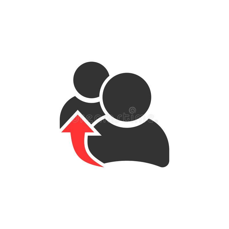 Icona di rinvio della gente nello stile piano Vecto di comunicazione commerciale illustrazione di stock