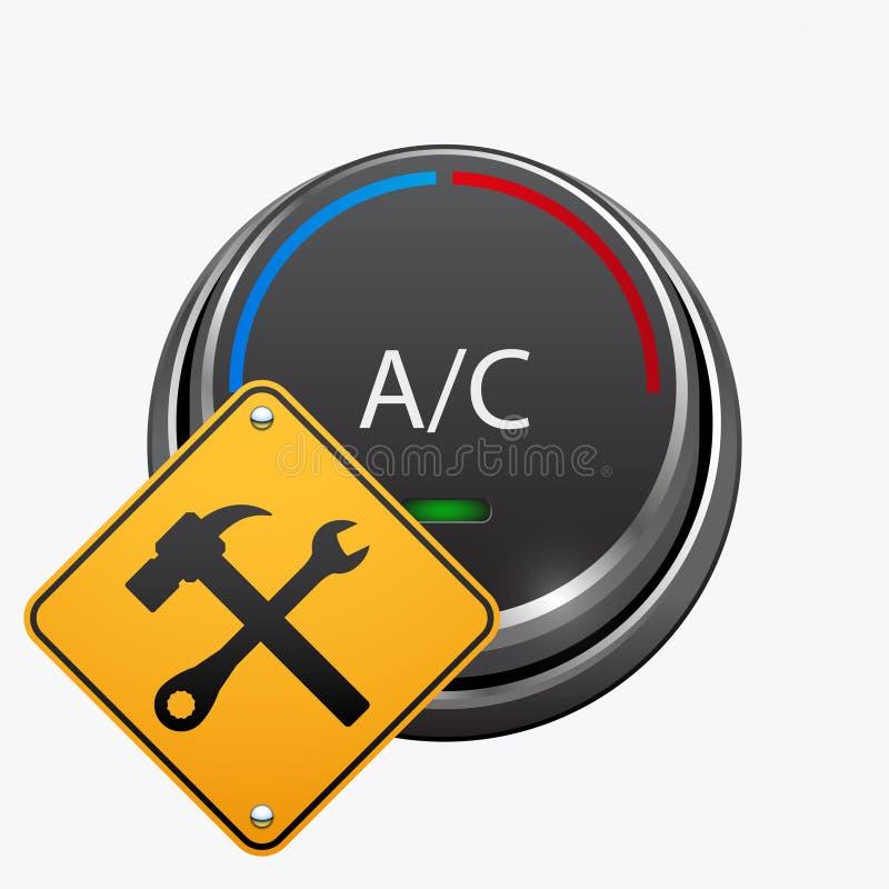 Icona di riparazione di stato dell'aria dell'automobile, progettazione di vettore royalty illustrazione gratis