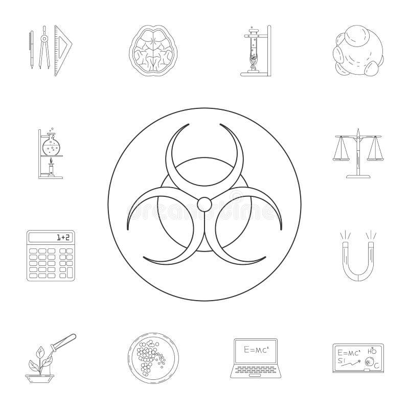 Icona di rischio biologico Insieme dettagliato delle illustrazioni del laboratorio e di scienza Icona premio di progettazione gra illustrazione di stock
