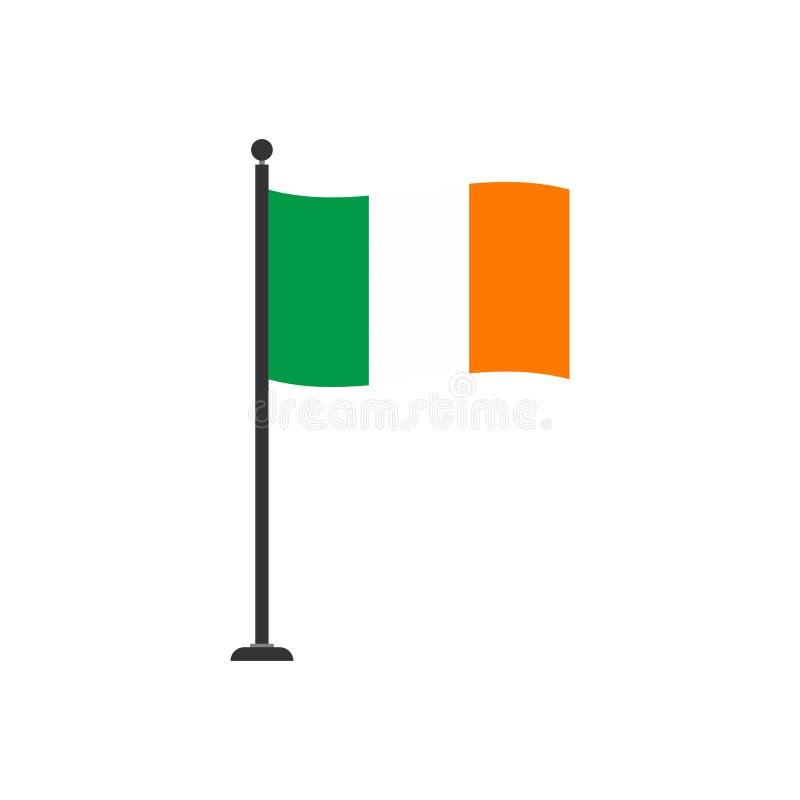 Icona di riserva 4 della bandiera dell'Irlanda di vettore illustrazione di stock