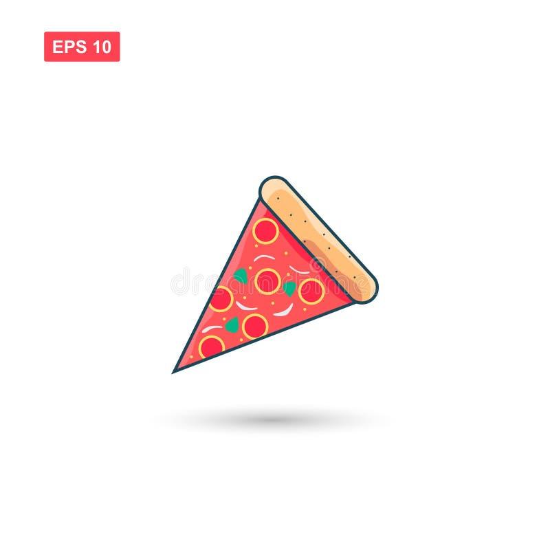 Icona di riserva della fetta della pizza di vettore royalty illustrazione gratis