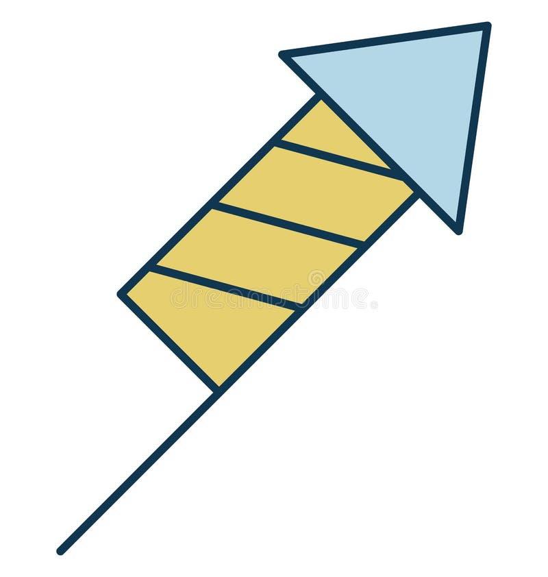 Icona di Rocket Or Firework Bomb Vector del fuoco d'artificio illustrazione di stock