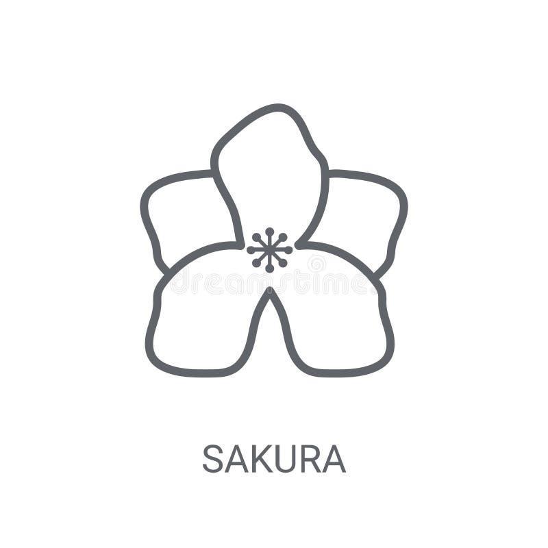 Icona di Sakura Concetto d'avanguardia di logo di Sakura su fondo bianco da royalty illustrazione gratis
