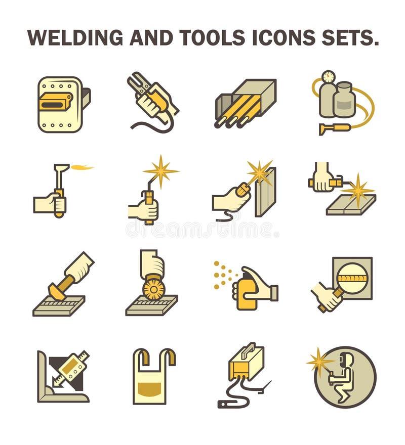 Icona di saldatura del lavoro illustrazione di stock