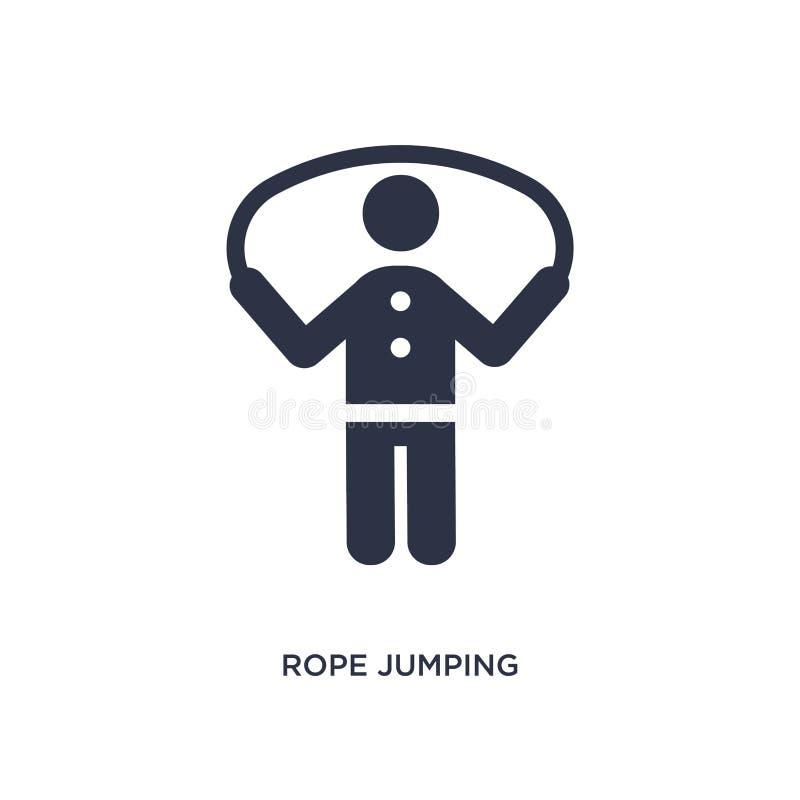 icona di salto della corda su fondo bianco Illustrazione semplice dell'elemento dal concetto di comportamento royalty illustrazione gratis