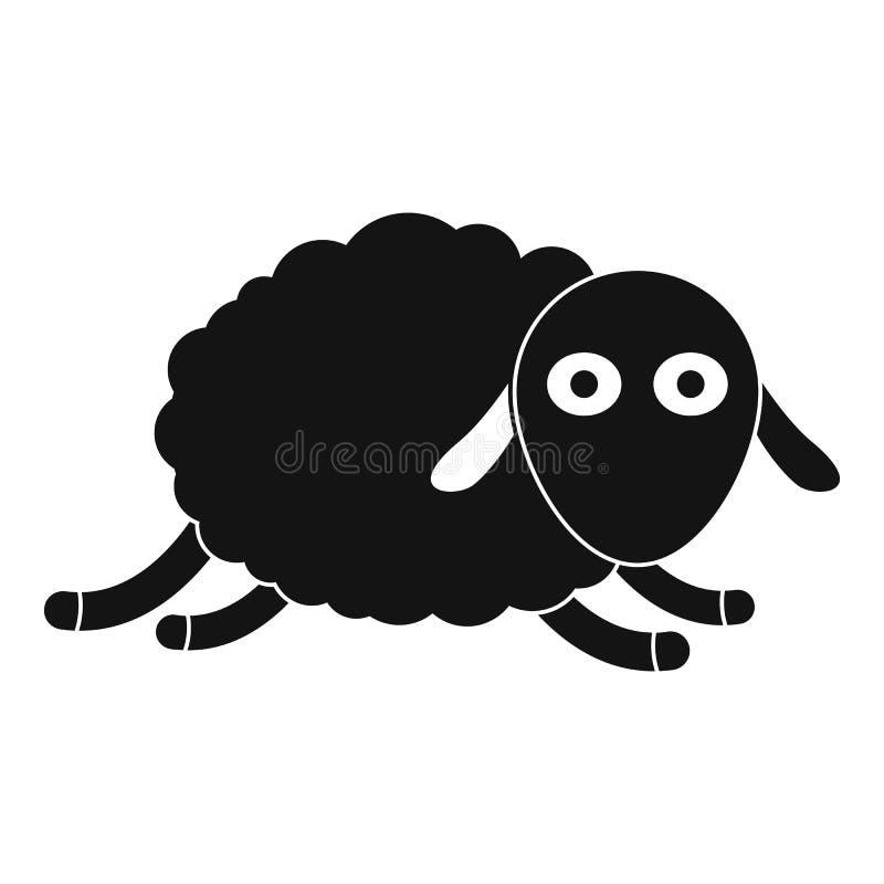 Icona di salto delle pecore, stile semplice illustrazione vettoriale